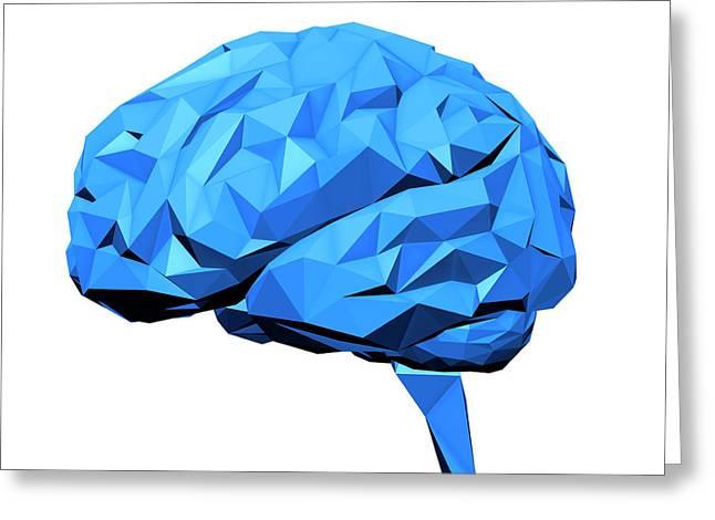 Human Brain Greeting Card by Andrzej Wojcicki
