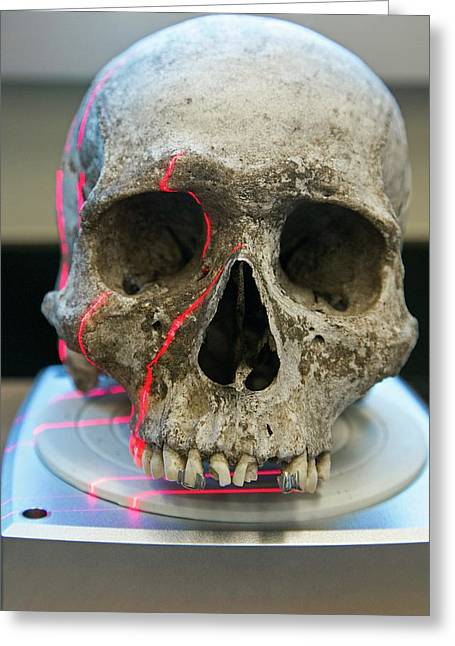 Human Remains In A Forensics Laboratory Greeting Card