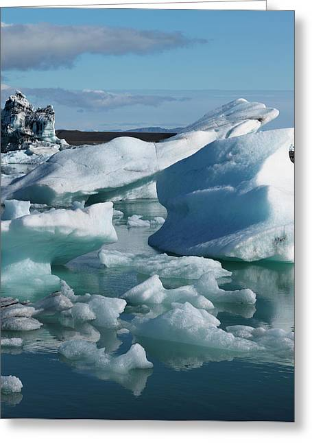 Iceberg Formations Broken Greeting Card by Tom Norring