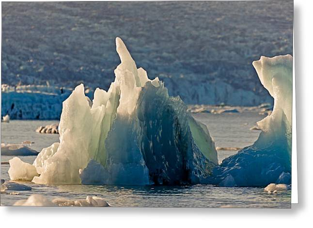 Icebergs At The Jokulsarlon Glacial Greeting Card by Panoramic Images