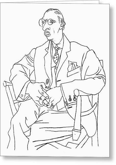 Igor Stravinsky (1882-1971) Greeting Card