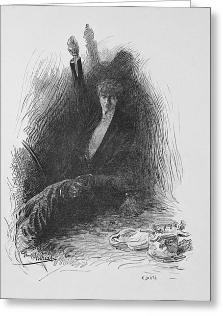Illustration From The Picture Of Dorian Greeting Card
