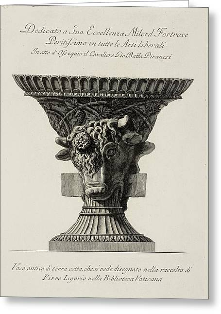 Illustration Of Classical Urn Greeting Card
