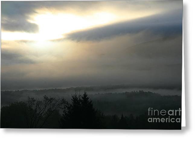 Lyndonville Vermont Early Morning Rain  Greeting Card