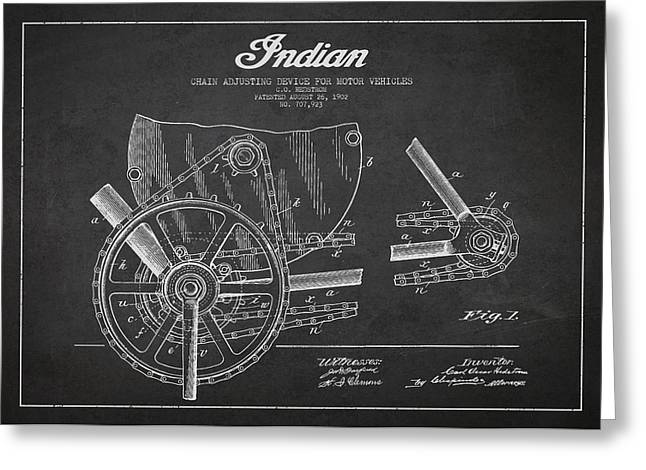 Indian Motorcycle Patent From 1902 Greeting Card