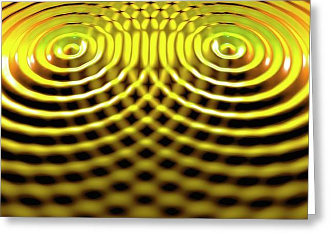 Interference Patterns Greeting Card by Russell Kightley