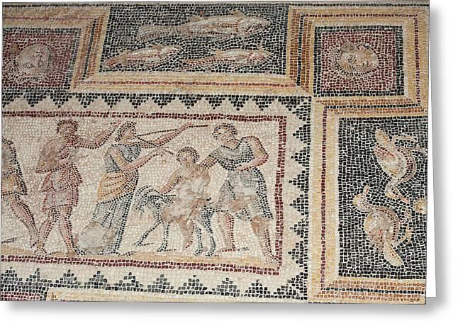 Israel, Lower Galilee, Floor Mosaic Greeting Card
