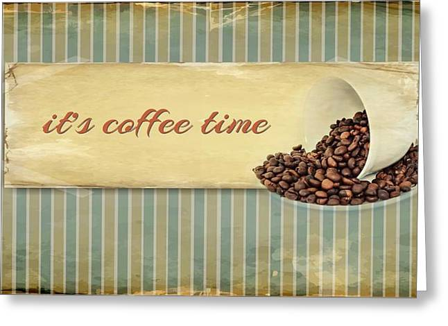 Its Coffee Time Greeting Card by Heike Hultsch