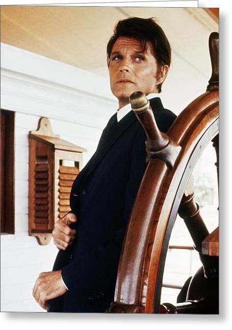 Jack Lord In Hawaii Five-o  Greeting Card by Silver Screen
