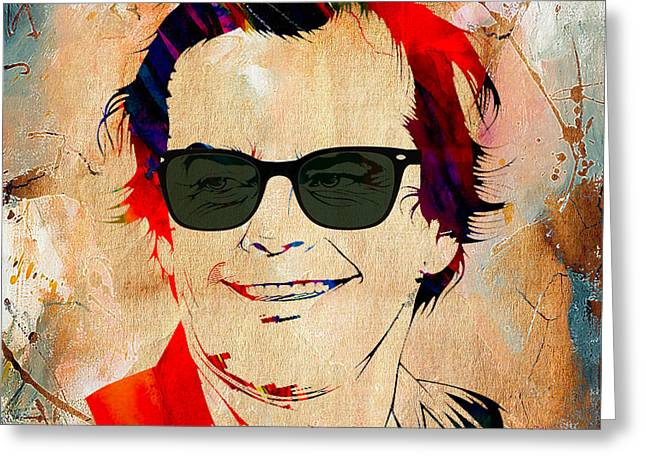 Jack Nicholson Collection Greeting Card by Marvin Blaine