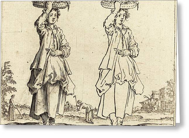 Jacques Callot French, 1592 - 1635, Peasant Woman Greeting Card