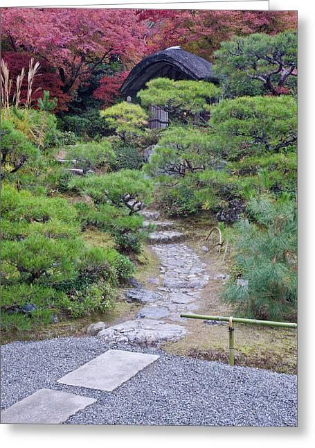 Japan, Kyoto, Arashiyama, Sagano Greeting Card