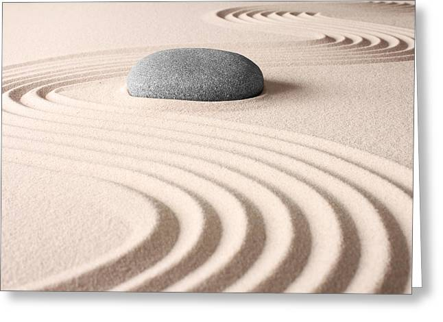 Japanese Zen Garden Greeting Card