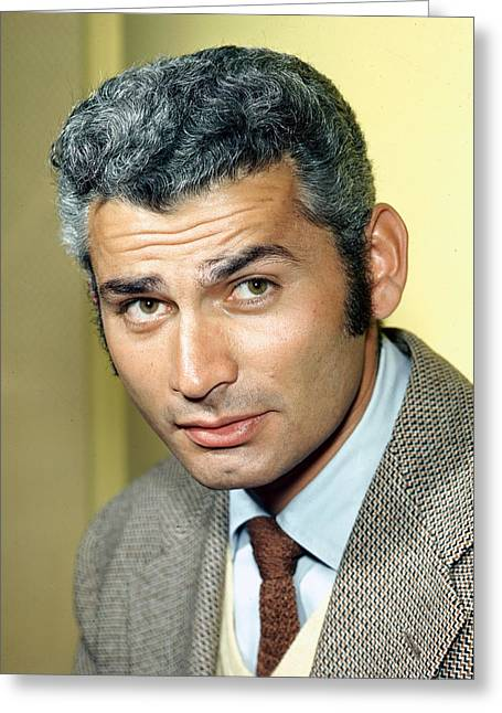 Jeff Chandler Greeting Card by Silver Screen