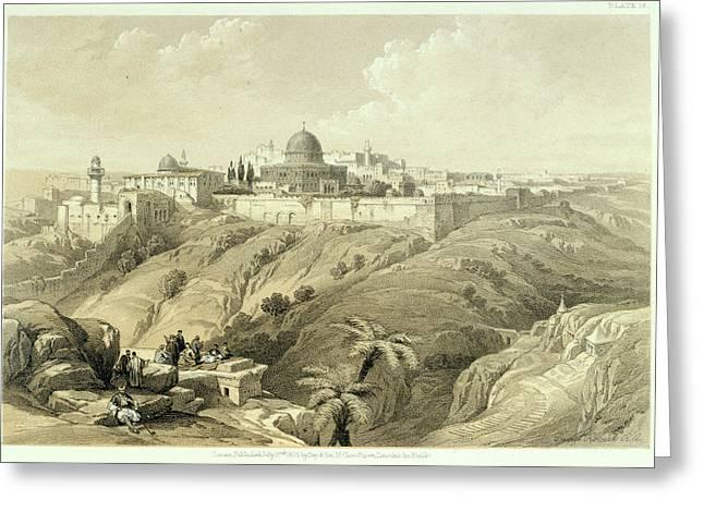 Jerusalem Greeting Card by British Library