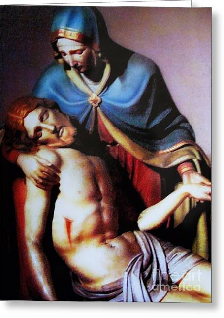 Jesus And Mary Greeting Card by W  Scott Fenton
