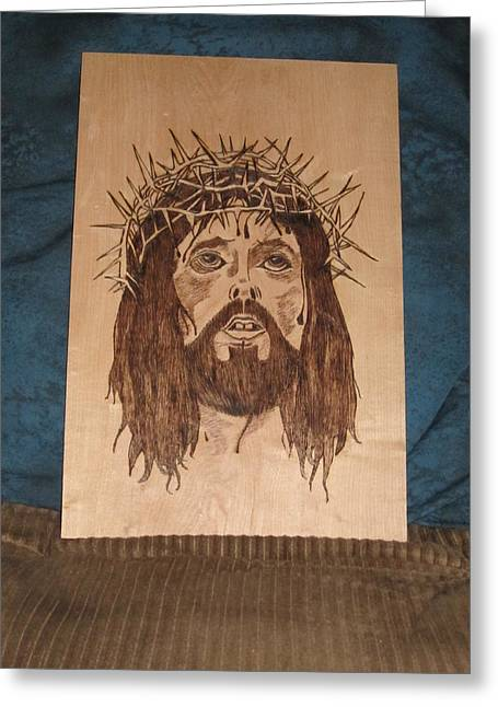 Jesus' Crucifixion Greeting Card by N Gardner