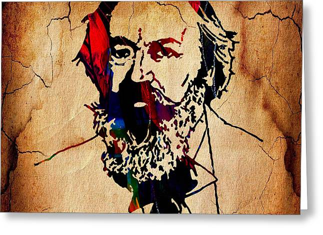 Johannes Brahms Collection Greeting Card by Marvin Blaine