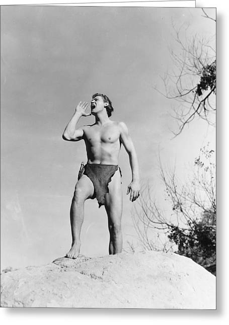 Johnny Weissmuller In Tarzan And His Mate  Greeting Card