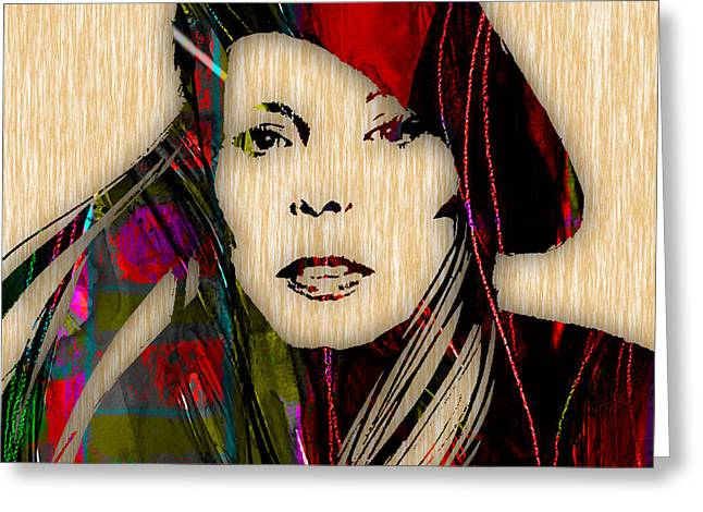 Joni Mitchell Collection Greeting Card by Marvin Blaine