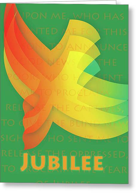 Greeting Card featuring the digital art Jubilee by Chuck Mountain