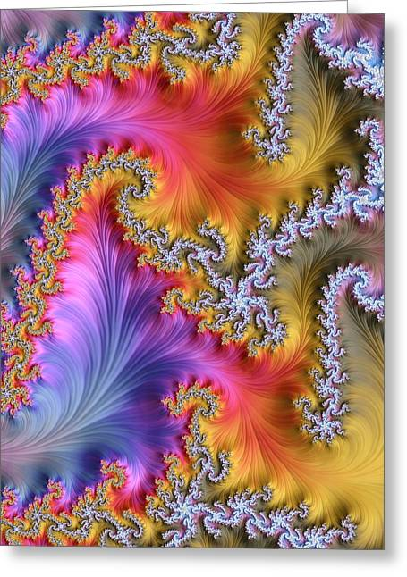 Julia Fractal Greeting Card by Alfred Pasieka