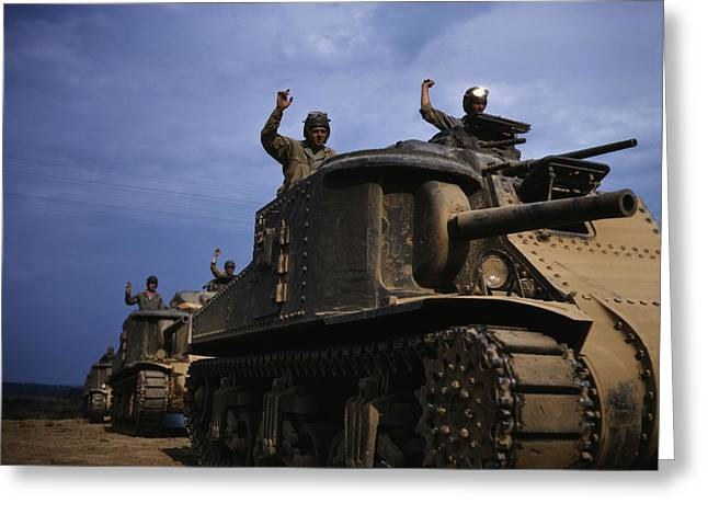 June 1942 - M3 Tanks In Action, Fort Greeting Card