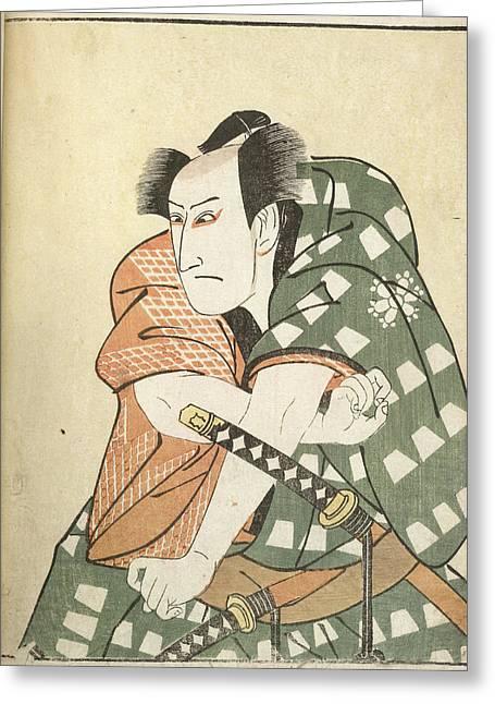 Kabuki Actor Greeting Card by British Library