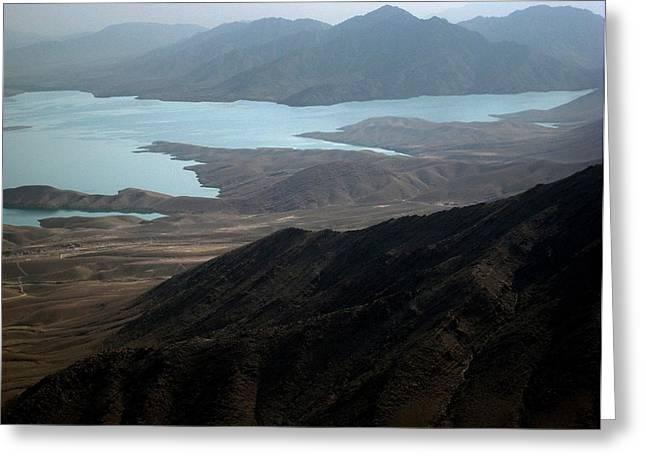Kajaki Lake In Helmand Province Afghanistan Greeting Card