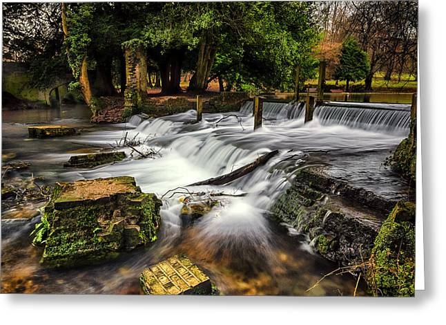Kearsney Abbey Greeting Card by Ian Hufton