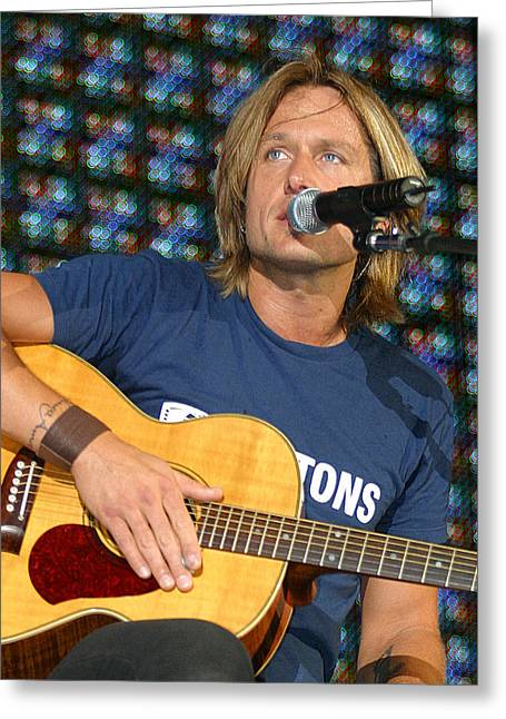 Keith Urban Greeting Card by Don Olea