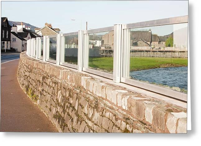 Keswick Flood Defences Greeting Card