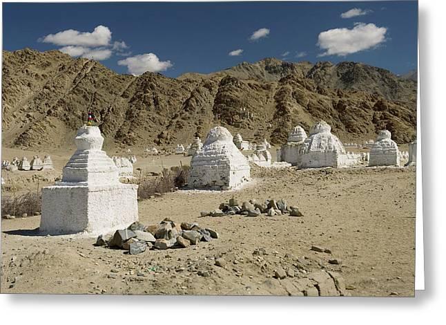 Ladakh, India Religious Structures Greeting Card by Jaina Mishra