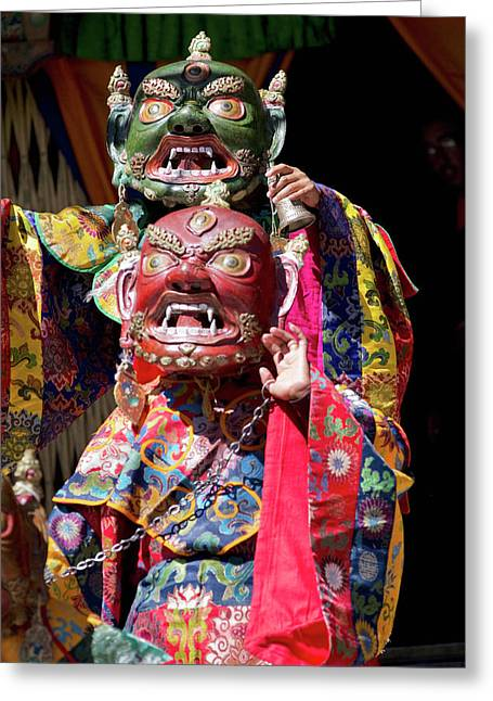 Ladakh, India The Ceremonial Masked Greeting Card