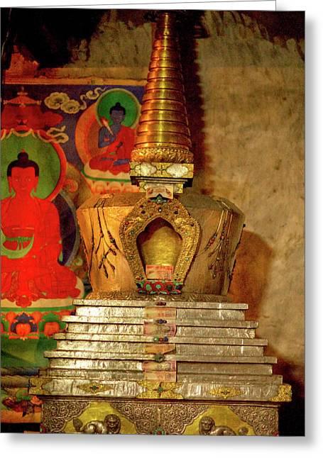 Ladakh, India The Interior Of The Hemis Greeting Card