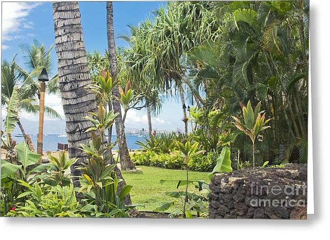 Lahaina Maui Hawaii Greeting Card by Sharon Mau