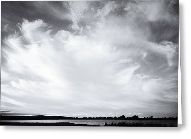 Lake Clouds Greeting Card by Les Cunliffe