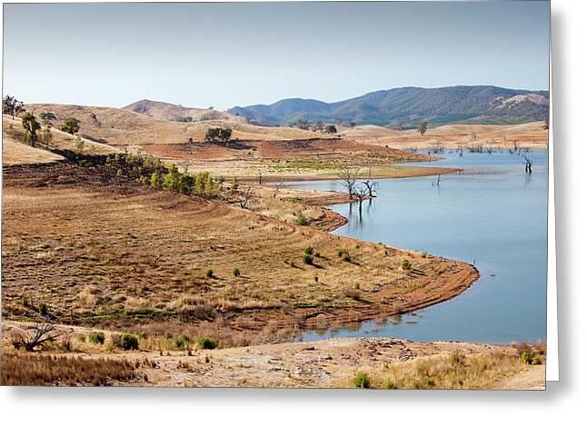 Lake Eildon In Drought Greeting Card