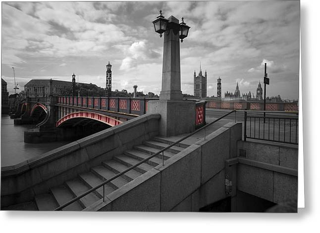 Lambeth Bridge Thames London Greeting Card