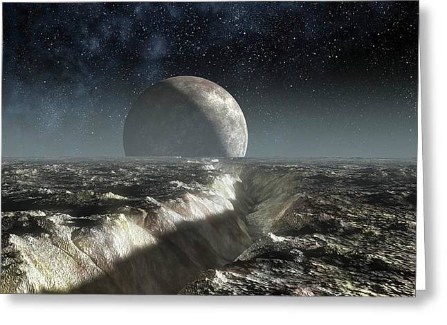 Landscape Of Pluto Greeting Card