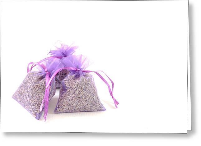 Lavender Greeting Card by Tom Gowanlock