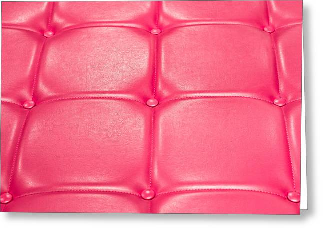 Leather Upholstery Greeting Card
