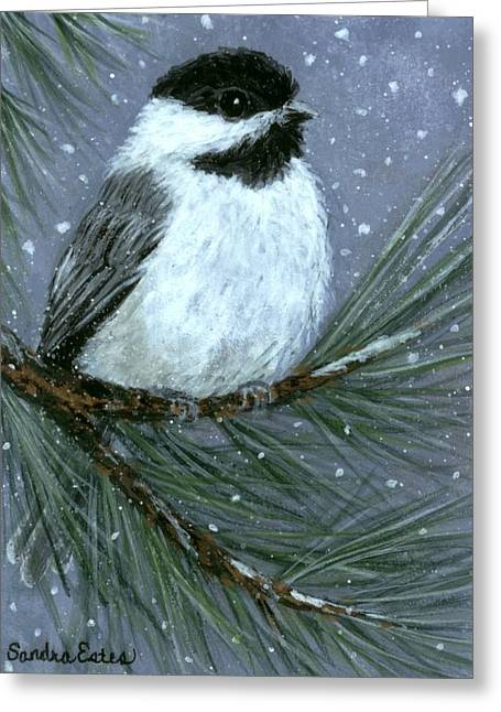 Let It Snow Chickadee Greeting Card