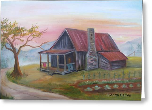 Life In The Country Greeting Card by Glenda Barrett