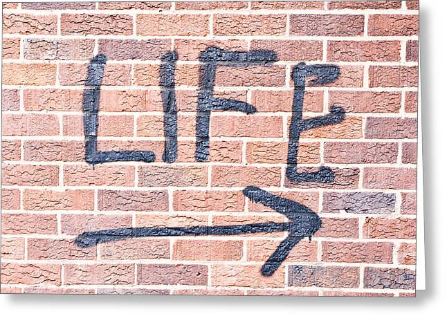 Life Greeting Card by Tom Gowanlock