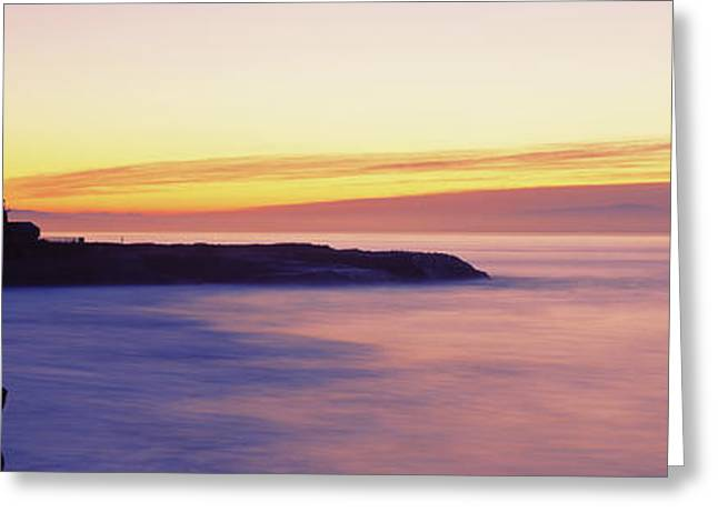Lighthouse At The Coast, Walton Greeting Card by Panoramic Images