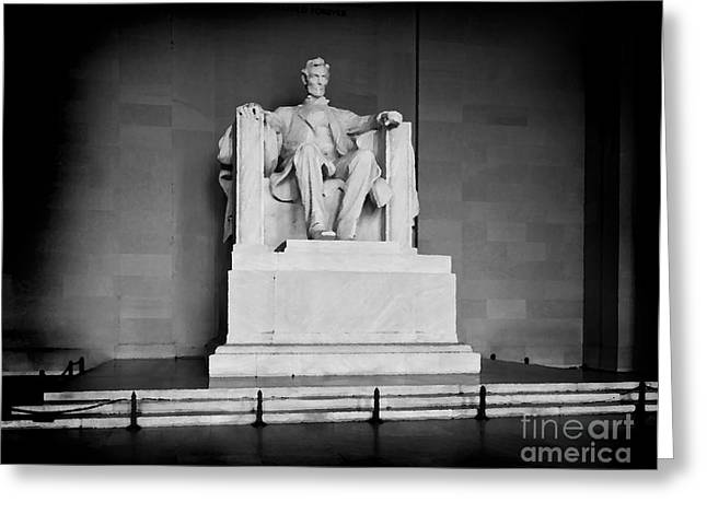 Lincoln Memorial Greeting Card by Lane Erickson