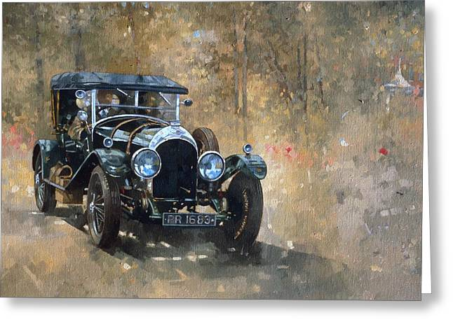 3 Litre Bentley At Cottesbrooke Greeting Card by Peter Miller