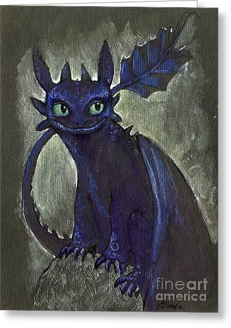 Little Dragon Greeting Card by Angel  Tarantella