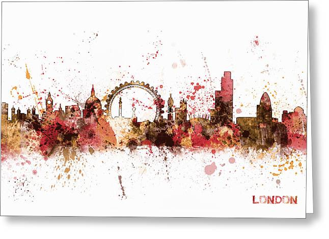 London England Skyline Greeting Card by Michael Tompsett